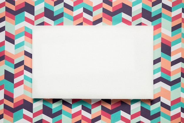 Blank card on colorful background Free Photo