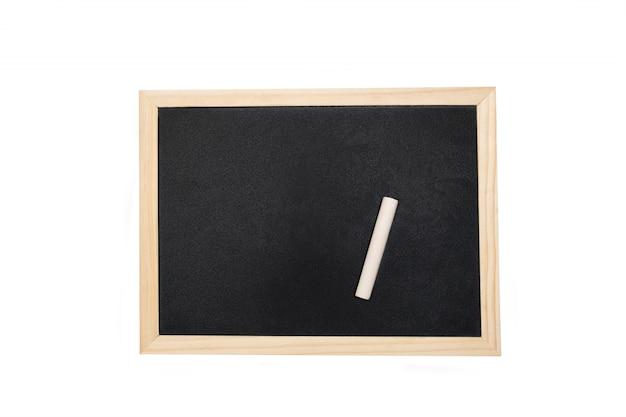 흰색 배경에 텍스트를위한 공간을 가진 빈 칠판. 무료 사진