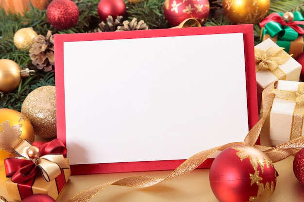 blank christmas card with red border free photo