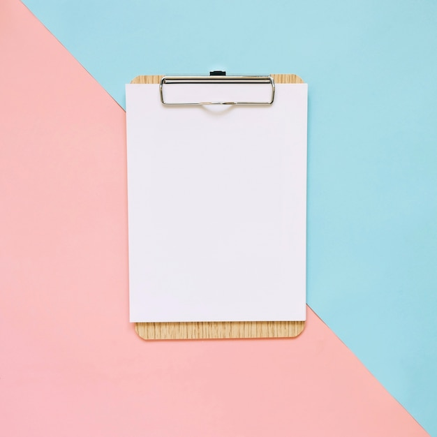 Delightful Blank Clipboard On Pastel Color Background, Minimal Style  Blank Paper Background