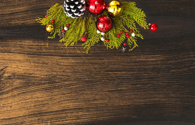 blank copy space wallpaper christmas fir branches pine cones candle