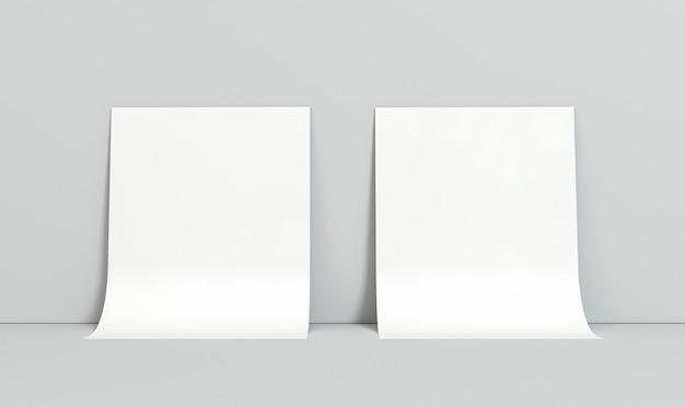 Пустые корпоративные копии космических визиток на стене Бесплатные Фотографии
