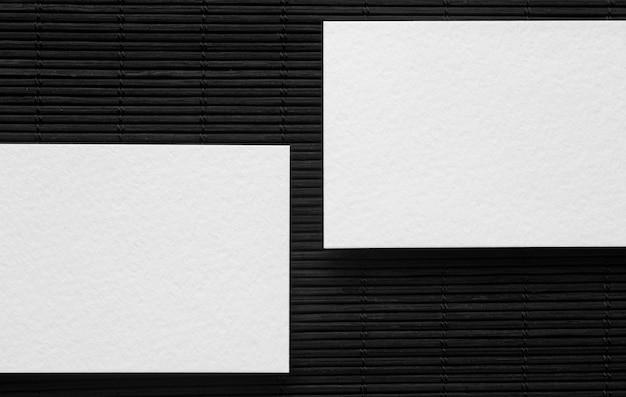 Пустые корпоративные копии пространства визитные карточки вид сверху Бесплатные Фотографии