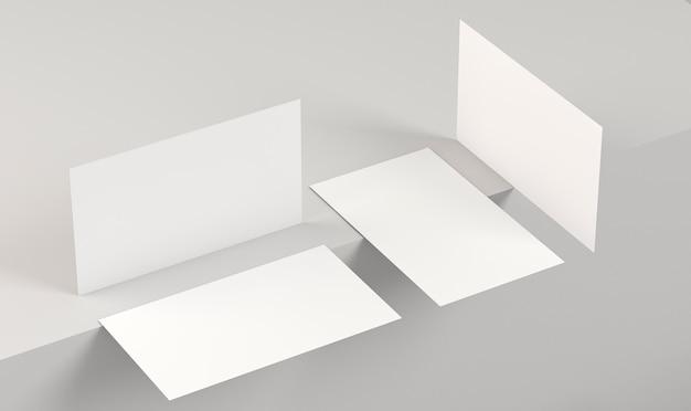 Пустые корпоративные копии космических визиток под разными углами Бесплатные Фотографии