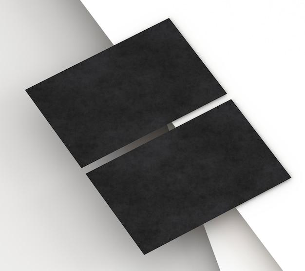 Пустая корпоративная канцелярская черная визитка на бумаге Бесплатные Фотографии