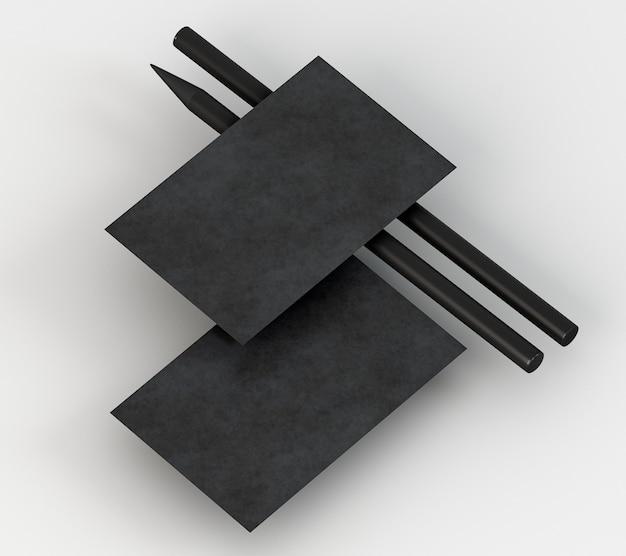 Пустой корпоративный бланк черный карандаш и визитка Бесплатные Фотографии