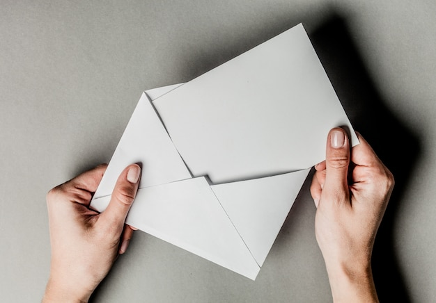 Blank envelopes Premium Photo