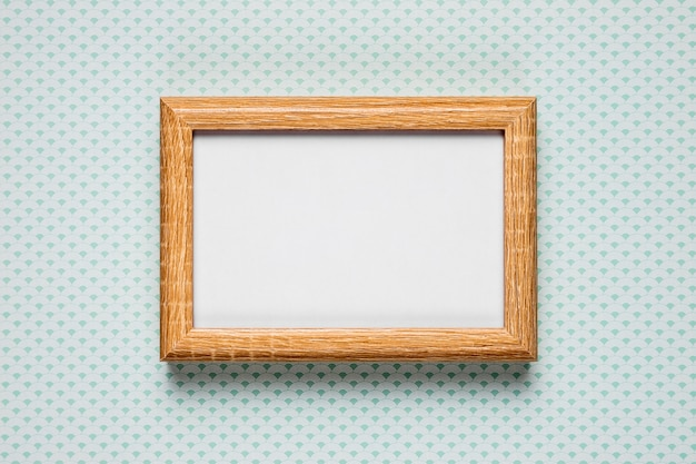 Blank frame on simple background Free Photo