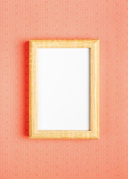 オレンジ色の背景の空白のフレーム 無料写真