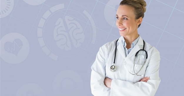 Blank handsome doctor medical health Free Photo