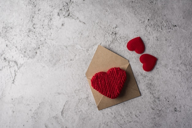 Blank letter on wood background, valentine's day concept Free Photo