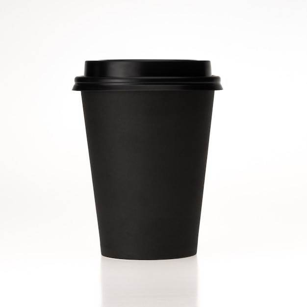 Blank Mockup For Desigh Black Paper With Black Plastic Cap