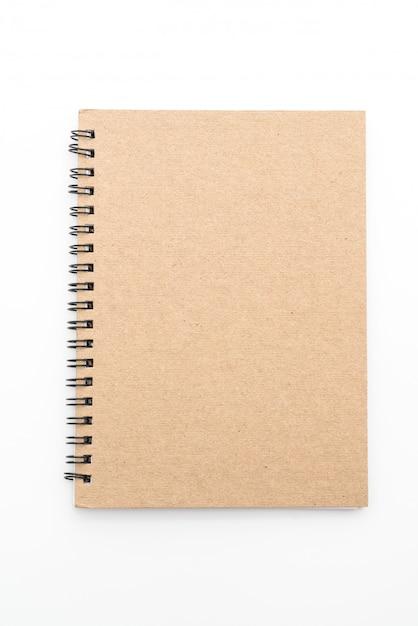 Blank notebook on white background Premium Photo