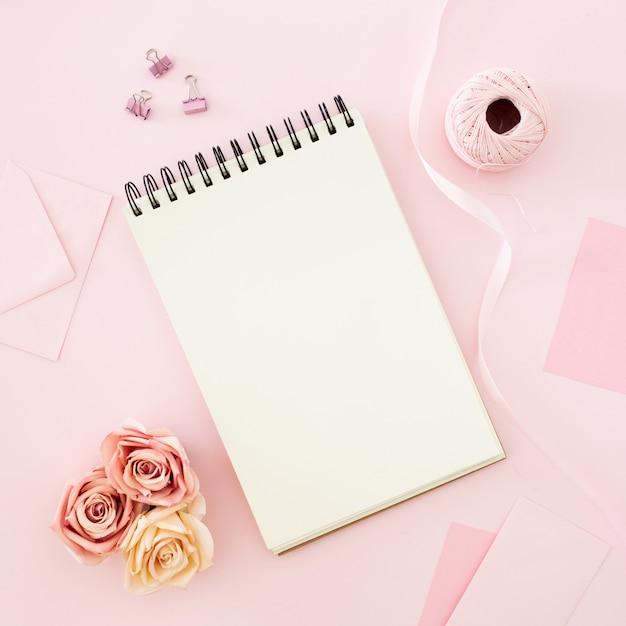 Blank notebook Free Photo