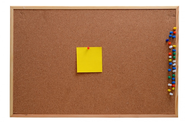 Blank notes pinned into corkboard Premium Photo