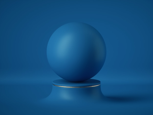 Blank opaque sphere Premium Photo