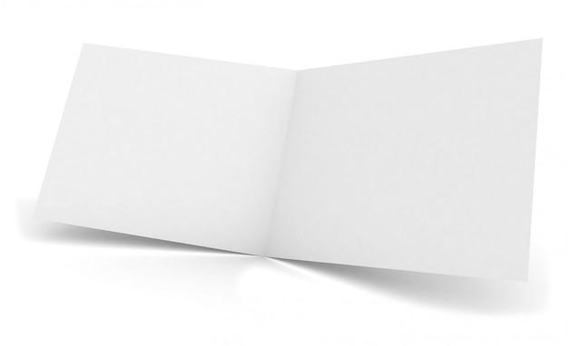 Blank open brochure bifold mockup Premium Photo