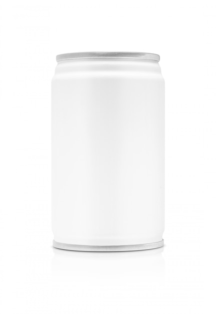Blank packaging beverage tin can isolated Premium Photo