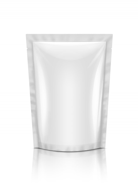 Blank packaging snack pouch isolated Premium Photo