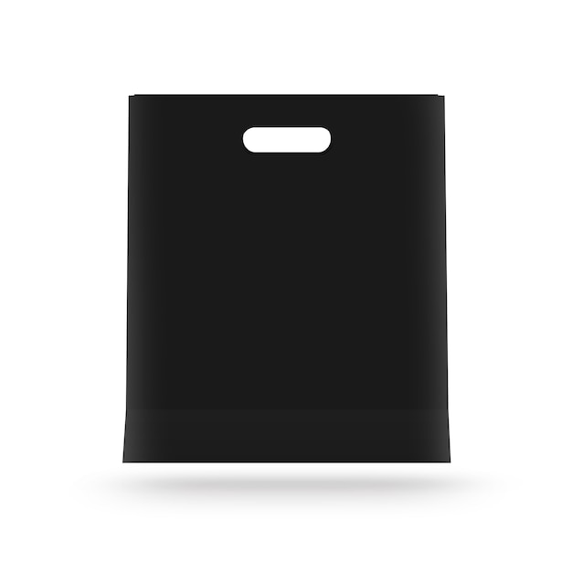 Blank paper bag mock up isolated. Premium Photo