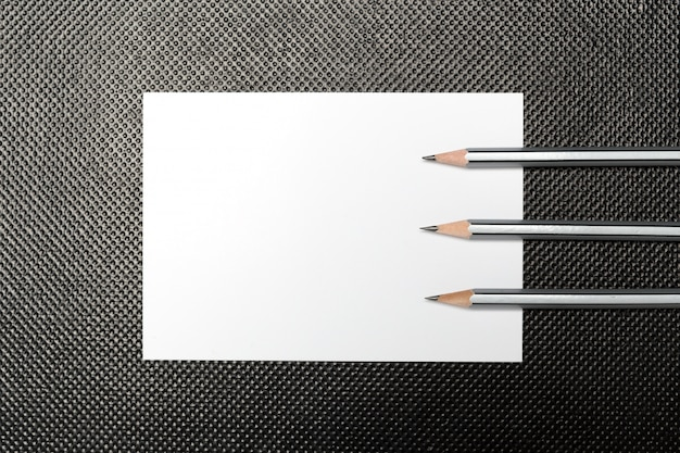 Blank paper and pencil Premium Photo