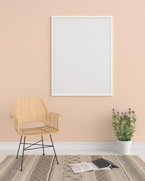 Blank photo frame for mockup Premium Photo