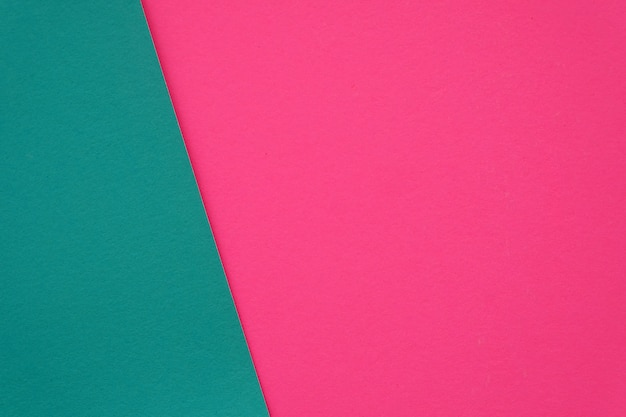 空白のピンクと緑の紙のテクスチャの背景 Premium写真