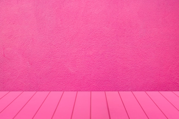 Blank pink room for display product Premium Photo