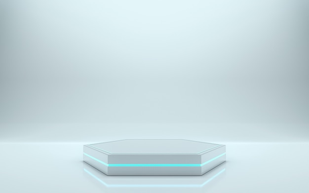 Blank podium for product. 3d rendering - illustration Premium Photo