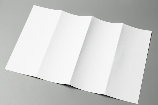Blank portrait a4. brochure magazine isolated on gray Premium Photo