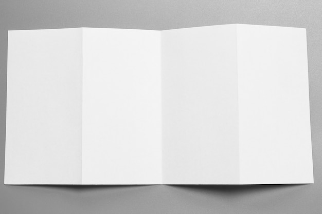 Blank portrait mock-up paper. brochure magazine isolated on gray, changeable background Premium Photo