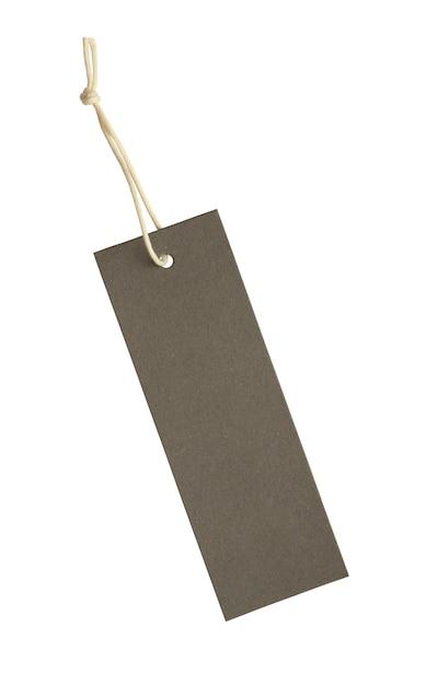 Пустой ценник, перевязанный строкой на белом фоне Premium Фотографии