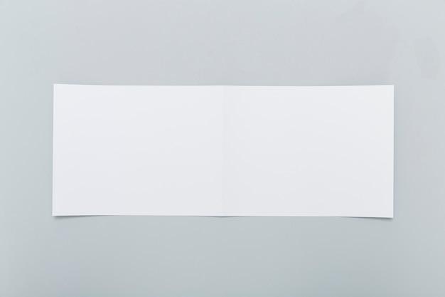Blank rectangle brochure shape Premium Photo