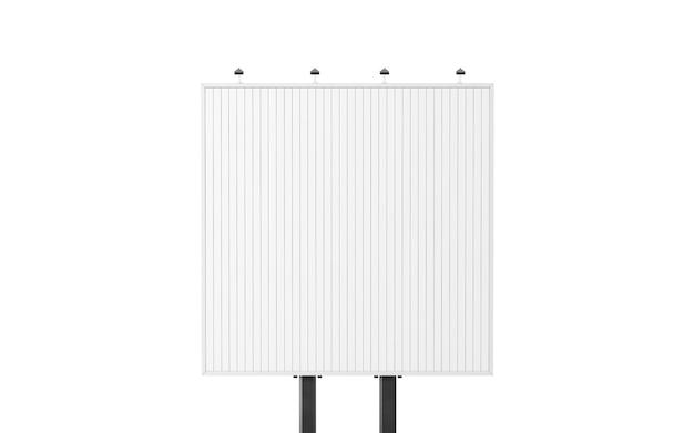 Blank square white trivision billboard Premium Photo