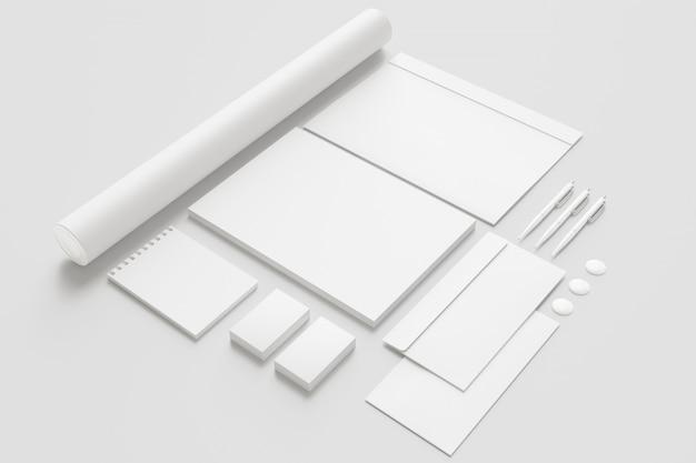 Blank stationery set. Free Photo