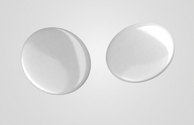 Distintivi 3d bianchi in bianco con luce Foto Gratuite