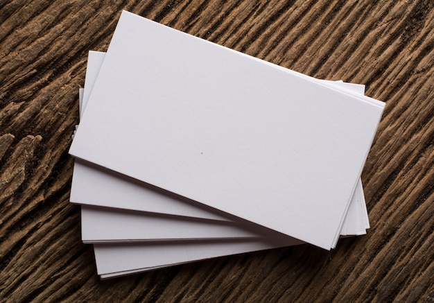 blank white business card presentation of corporate