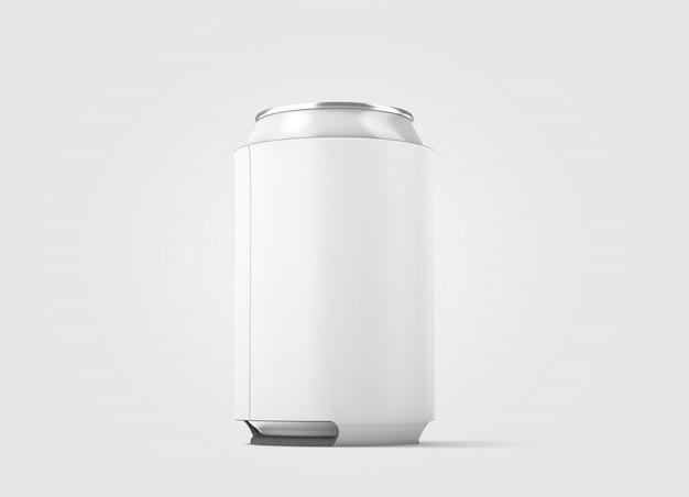 Пустая белая складная пивная банка Premium Фотографии