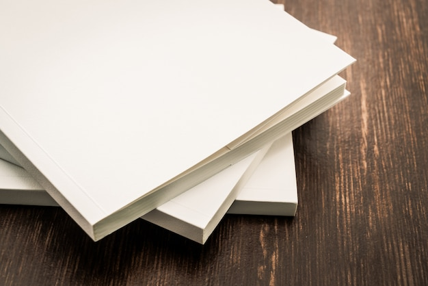 Blank white mock up book Free Photo