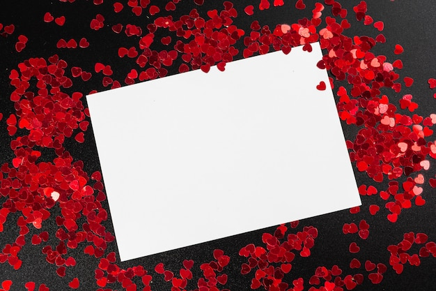 Premium Photo   Blank white note card with heart shaped ...