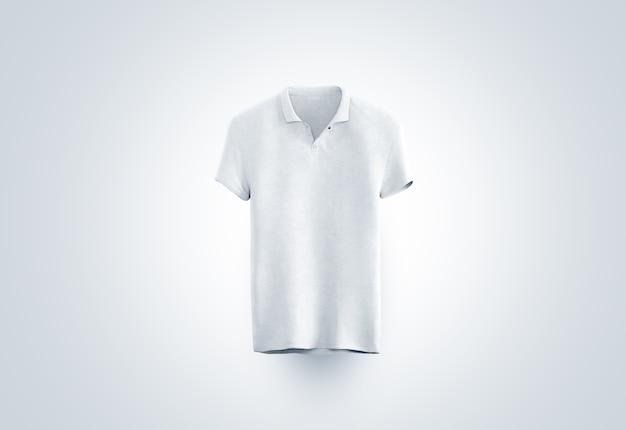Blank white polo shirt  isolated, front view Premium Photo