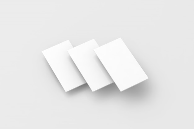 Blank white rectangles for phone screen web site design mockup Premium Photo