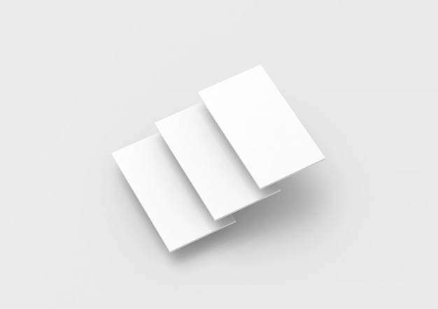 Blank white rectangles for web site design Premium Photo