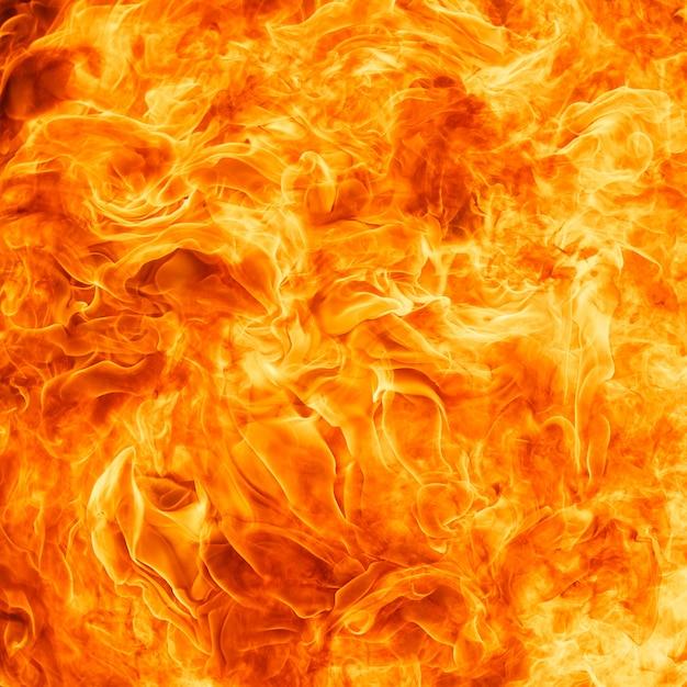 Blaze fire flame texture background Premium Photo