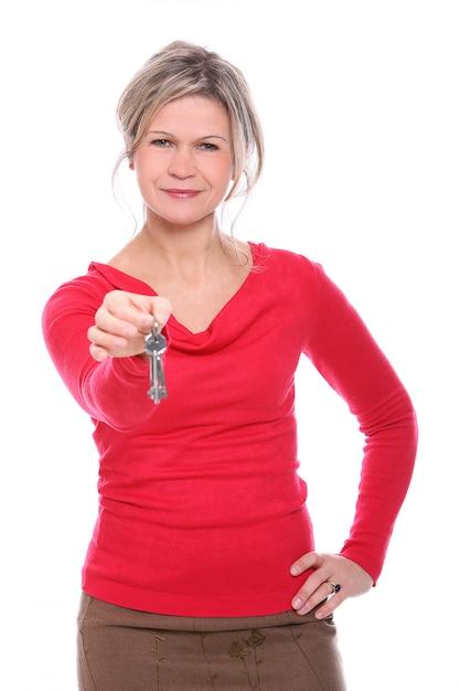 Белокурая женщина ключей Бесплатные Фотографии