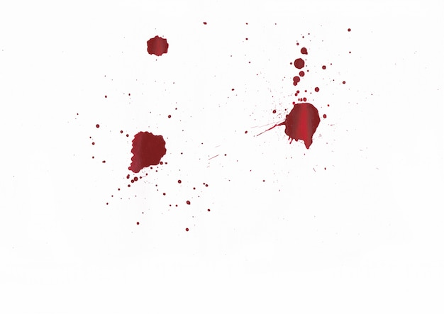 Blood splatters on white background Premium Photo