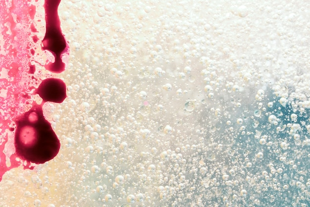 Blood stain with bubble background Free Photo