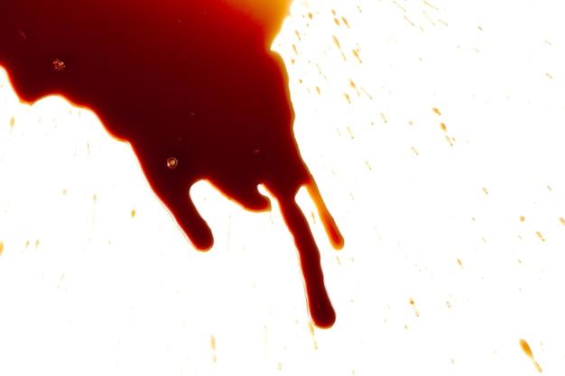 白地に血痕 Premium写真