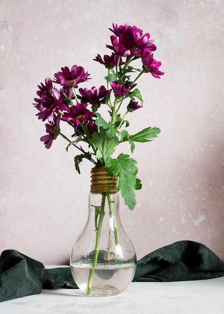 Blooming spring flowers in vase Free Photo