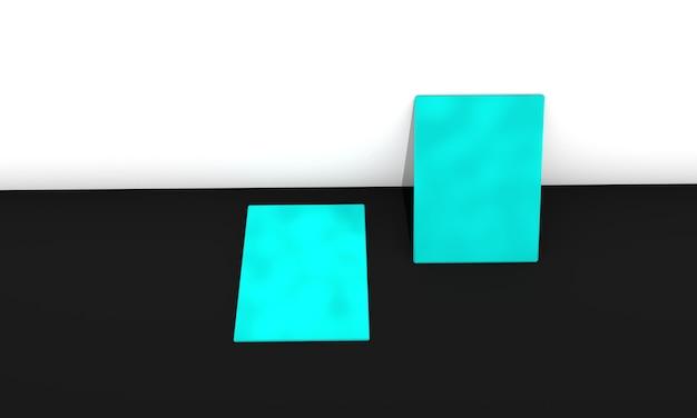 흑인과 백인에 파란색 3d 비즈니스 카드 프리미엄 사진